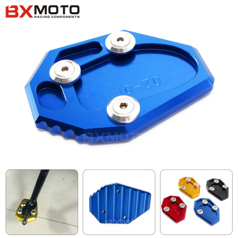 For Yamaha MT07 XJ6 FZ6 FZ6R Blue motorbike Fittings Side Stand Spacer Side Stand Enlarge Motorcycle accessories<br><br>Aliexpress
