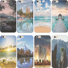 Hot Sold! Newest Scenery Silicon Phone Cover Cases For Apple iPhone 5 iPhone 5S iPhone5 iPhone5S Case Shell Best Choose Hot Sold