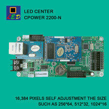 LED CENTER CPOWER 2200 NETWORK PORT SEND DATA CONTROL CARD LED SIGNS BOARD lumen single Monochrome double color controller(China)