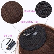 PKR 326.04  36% Off | Fake Bangs Clip Hairpiece Black Brown Blonde Synthetic Bangs Hair Extensions For Women DIFEI