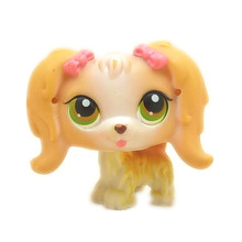 Original 1pc quality cute toys Lovely Pet doll animal Small cute dog with a braid action shop figure littlest doll toys 2327(China)