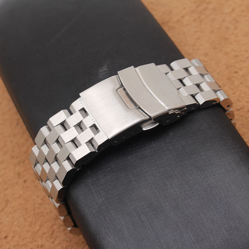 Fashion Watchband with safety buckle unpolished watch bands strap bracelet 18mm 20mm 22mm 24mm 26mm hot wristwatch men accessory<br>