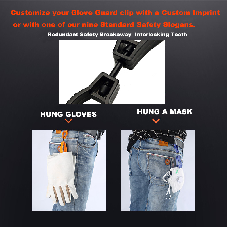Plastic Working Glove Clip  AT-1 Work Clamp Safety Work Gloves Clips Guard Labor supplies Manufacturer