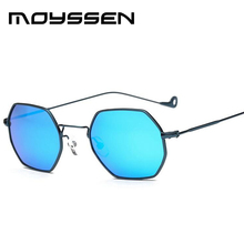 MOYSSEN Fashion Women Round Frame Colorful Lenses Sunglasses Men Unique Outdoor Driving UV400 Sun Glasses Oculos de sol