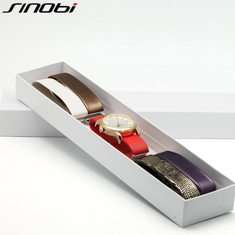 SINOBI Top Brand Luxury Quartz Watch Women 5 Color Straps Set Reloj Mujer 2017 Fashion Band Leather Ladies Watches Montre Femme<br><br>Aliexpress