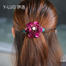 Women headwear pearl hair barrette vintage hair decoration flower hair clip boutique hair accessories for women(China)