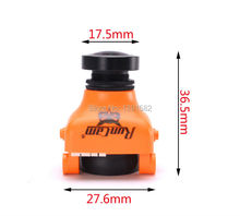 New RunCam OWL PLUS 700TVL 0.0001 LUX FPV Camera FOV 150 Wide Angle F2.0 Lens IR Blocked 5-22V Orange