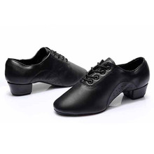 Black PU Latin Dance Shoes For Boy Men Salsa Ballroom Shoes Jazz Shoes 701 Zapatos De Baile Latino