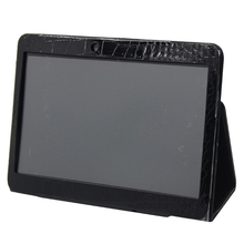 The black and white color Leather case for 10 inch tablet from our store