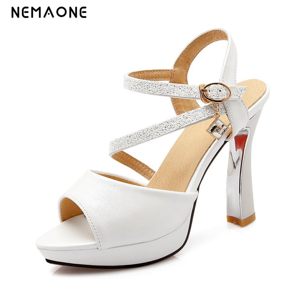 NEMAONE 2017 Fashion Women Heels Sexy High Heels Peep Toe Platform Sandals Nightclub Shoes Woman High Heels Sandals<br>