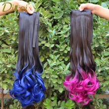 Buy DIFEI Long Curly Ombre Color Clip Women Clip Ponytails High Temperature Fiber for $8.99 in AliExpress store