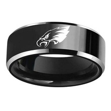 Philadelphia Eagles logo ring 316 stainless steel men titanium steel black ring(China)