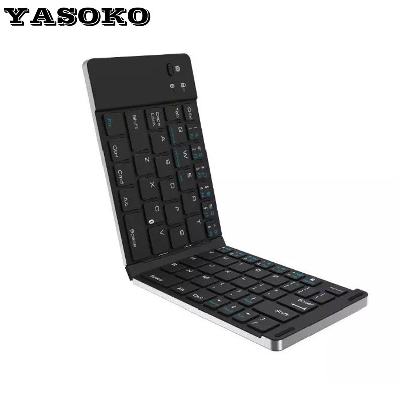 Intelligent Pocket Wireless Bluetooth 3.0 Foldable Keyboard Universal  for Android Windows IOS Devices Tablet PC or Smart Phone<br><br>Aliexpress