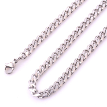 Buy 5 mm Width Fashion Stainless steel Cuba Chain Men Women Silver Color Stainless steel Necklace Jewelry for $1.05 in AliExpress store