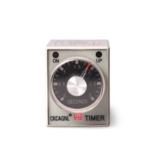 AH3-3 1S/3S/6S/10S/30S/60S/3M/6M/10M/30M/60M Power On Timer Delay Time Relay AC220V/110V DC24V/12V with Socket