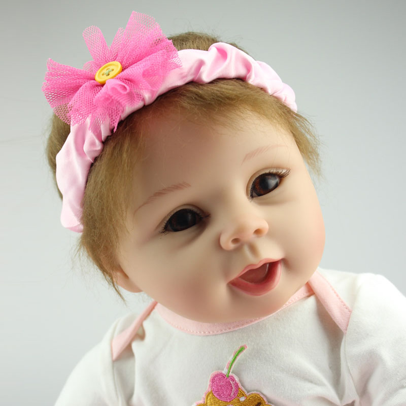 50-55cm Top Quality Fashion Silicone Reborn Baby Girl Doll Best Toys Soft Body Reborn Dolls Toddler Toys Classic Girls Gift Toy<br><br>Aliexpress