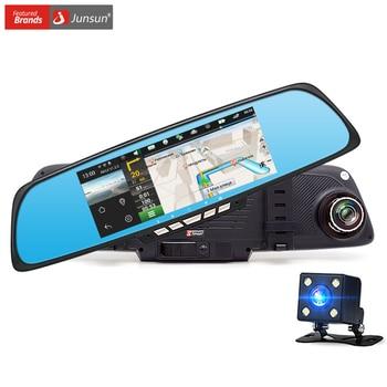 "Junsun 6.86 ""Cámara del coche DVR Gps de Doble Lente de Espejo Retrovisor Grabadora de Vídeo FHD 1080 P de Automóviles Espejo DVR Dash cam"