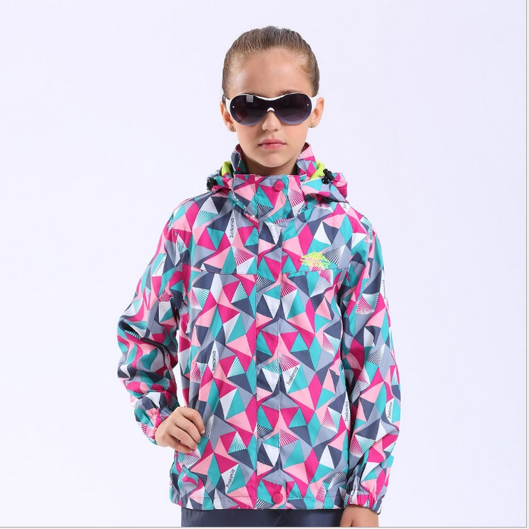 Spring Autumn Waterproof Windproof  Children Boys Jackets Coats Hooded Camouflage Printed Warm For 4-12 Kids Outerwear Clothing<br>