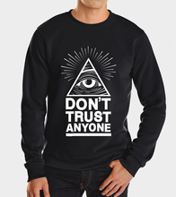 2017 Dont Trust Anyone autumn winter fleece hoodies Illuminati All Seeing Eye sweatshirt harajuku hoodies custom made games men