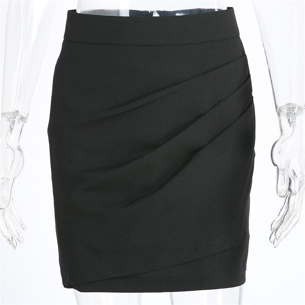 XS-5XL Plus Size Black Pencil Skirt Summer 2018 Bodycon High Waist Skirts Work Office Slim Women's Tight Sexy Mini Skirt Zevrez 11