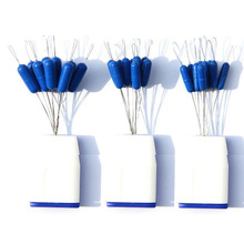 10Pcs super size blue Rubber easy use floater Fishing Bobber Float big Space bean Folat Line Stoppers trout floater