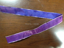 "38mm(1.5"")  Christmas Xmas wired edge ribbon Purple/Silver edge 25yards roll Free Shipping"