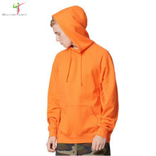 2017 fashion color orange hooides men's thick clothes winter sweatshirts men Hip Hop Streetwear solid fleece hoody man Clothing(China)