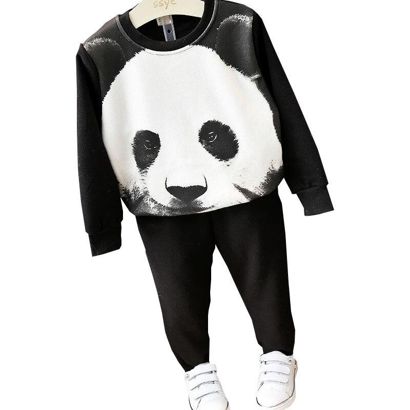 Toddler Boy Clothes 2pcs Kids Tracksuit Cotton Thick Fleece Cartoon Tiger/Panda Casual Baby Sport Suit Autumn Winter Boys Set<br><br>Aliexpress