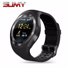 Slimy Y1 Smart Watch Sync Notifier Support Sim TF Card Bluetooth Connectivity Apple iphone Android Phone PK GT08 DZ09 V8 U8 A1