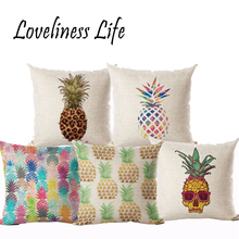 Nordic Tree Pineapple Cushion Cover Cotton Linen Throw Pillowcase Sofa Bed Decorative Housse De Coussin Almofadas Cojines