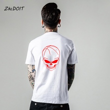LeBron James jersey men t shirt brand clothing basketbal tee shirts homme short sleeves t shirts #23 Skull t-shirt,tx2370