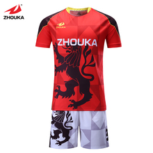 Zhouka Customized Men's Soccer jersey Thai quality grade original digital printing processing