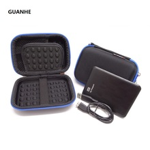 GUANHE Carrying Case For Portable External Hard Drive bag For Seagate Expansion Backup Plus Slim,WD My Passport Ultra Toshiba(China)