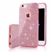 Buy Luxury Bling Style 3 1 Hybrid Hard Glitter Case iPhone 7 7Plus 6 6Plus PC+TPU Phone Bag Case Cover iPhone 7 6 6SPlus for $2.98 in AliExpress store