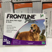 compound fipronil spot on for dogs anti kill fleas eggs ticks frontline plus for dogs 20 -40 kg for 8 weeks or older(China)