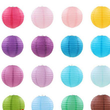 10cm  20cm  30cm Round Chinese Paper Lantern Birthday Wedding Party decor gift craft DIY wholesale retail