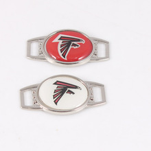 Atlanta Falcons USA Football Team Oval Shoelace Charms For Sport Shoes Outdoor Paracord Bracelet Cat Dog Collar Travel DIY Kits(China)