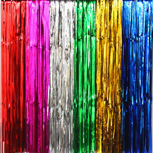 2017 Multicolor Rain Curtain Scene Props Photo Background Wedding Rain Curtains Birthday Party Wedding Backdrop Decoration(China)