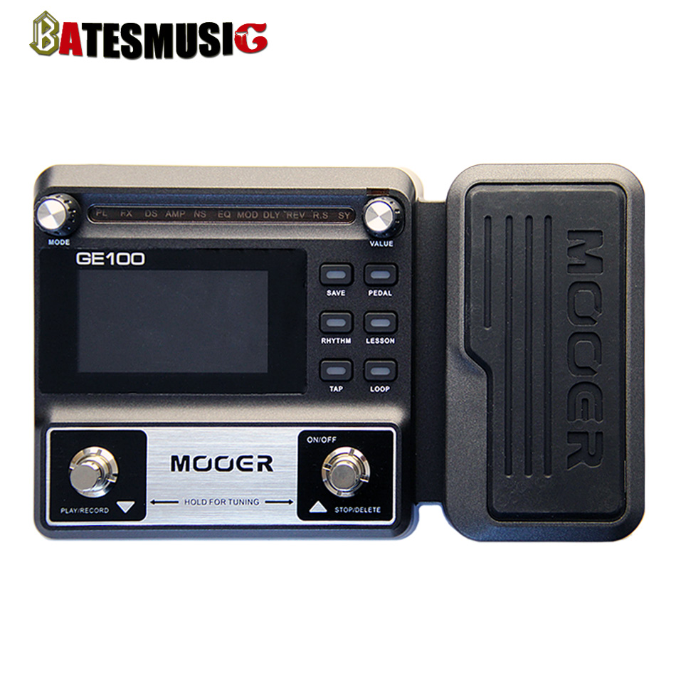 NEW  MOOER GE100 Guitar Multi-Effects Processor Large high brightness LCD display pedal  Effect pedal<br><br>Aliexpress