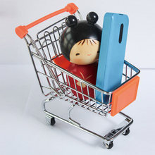 Car styling Supermarket Shopping Trolley Phone Holder Office Desk Storage Toy Cart  Mini Shopping Trolley Handcart Accessories