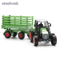Abbyfrank Plastic And Alloy Vehicle Toy Model Car Miniature High Simulation Farmer Transporter Cars For Kids Boy Brinquedos