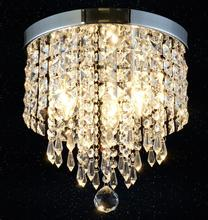 220V-E14/110V-E12 Chandelier Lustre K9 Crystal Chandeliers Lighting Led Fixture Small Clear Crystal Lustre ceiling Lamp ZXD0025(China)