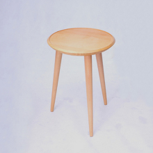 16 inch Round Beech Wood Coffee Table