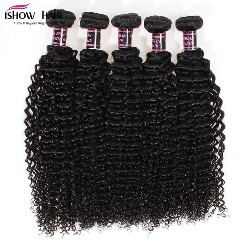 Malaysian Curly Hair Malaysian Virgin Hair Kinky Curly 5Bundles/Lot Ishow Hair 8A Grade Virgin Unprocessed Human Hair Weaves<br><br>Aliexpress