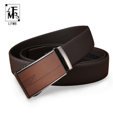 [LFMB]leather belt men male genuine leather strap automatic belt buckle leather belts mens luxury brand men belt cinto masculino(China)