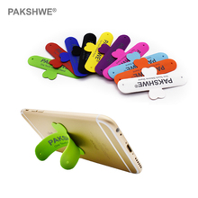 10x Silicone Phone Holder Stand One Touch U-shape 3M Adhesives Back Sticker for iPhone 5 6 7 8 All Smartphones Universal