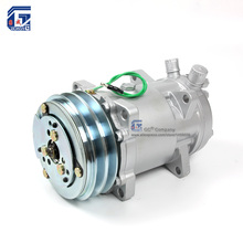 A/C Air Conditioning Compressor SD510 5H16 12V / 24V 2A V Belt Pulley Tractor Excavator Heavy Duty Truck Pickup Universal
