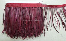5Yards/lot! Wine Red Goose Biot Feather Trim,Millinery Feather, Biot, Hat Trimming, Feathers for Millinery,Fascinators & Crafts(China)
