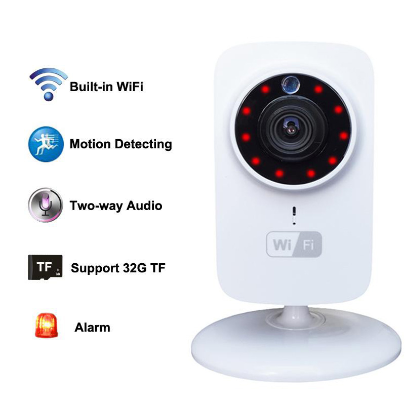 Digital Wireless Baby Monitors WiFi IP Camera support Motion Detection Real-time Video Full-duplex Speech Night Vision HD 720P<br>