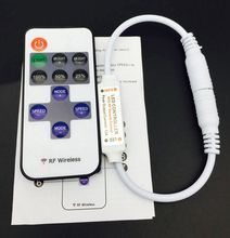 DC5-24V wireless mini led controller dimmer 11key RF remote control for single color led strip 5050 3528 5630(China)